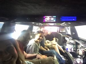 Inside Limo Ride